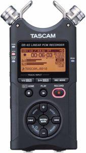 定番ASMR録音マイク①:スマホで簡単録音『TASCAM DR-40X』