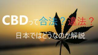 cbd 合法 違法 日本