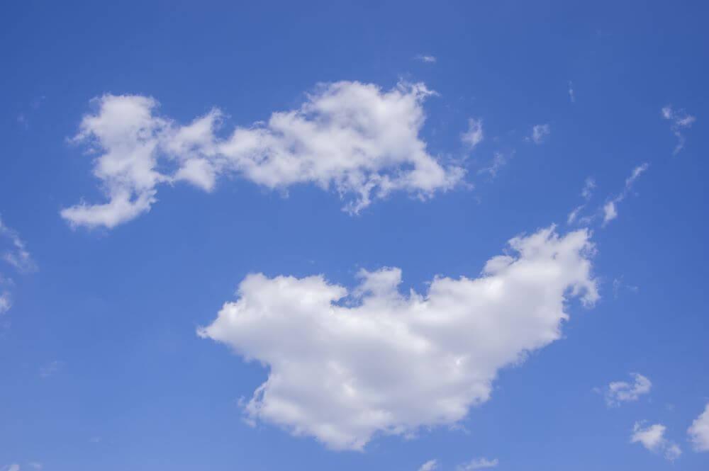 青空と白い雲の風景