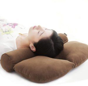 仰向け.横向き寝 安眠枕 円柱 頚椎ヘルニア 枕 ストレートネック矯正枕